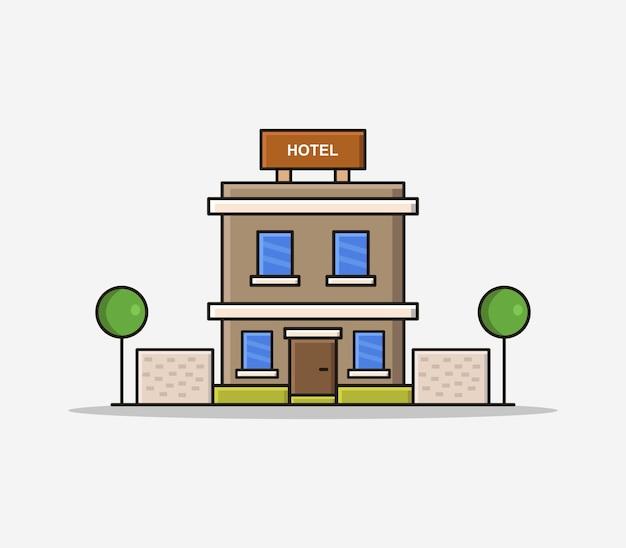 Hotel desenho animado Vetor Premium