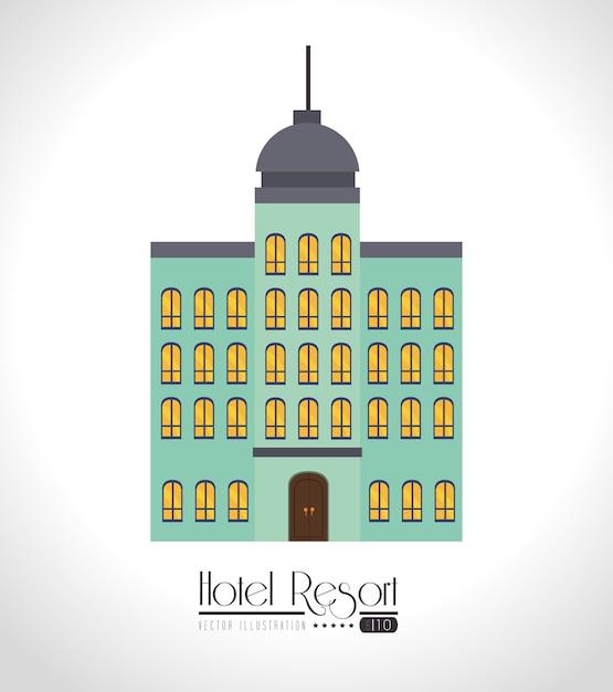 Hotel design, ilustração vetorial. Vetor Premium