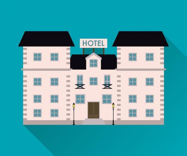Hotel. ícone de serviço. Vetor Premium