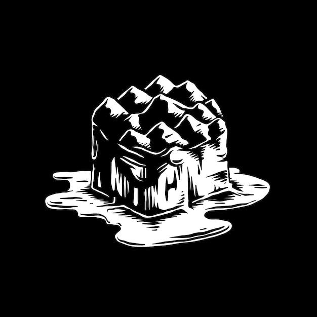 Iceberg de derretimento da ilustração do efeito de aquecimento global Vetor grátis