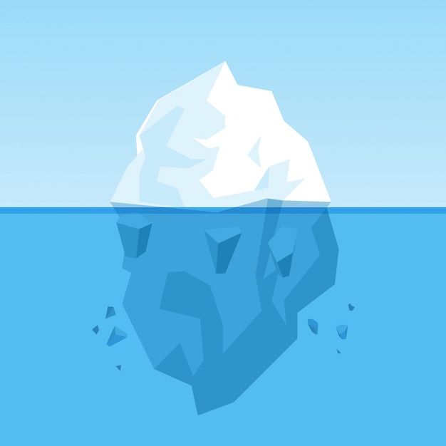 Icebergue Vetor grátis