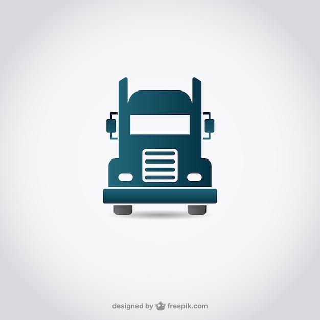 Icon truck Vetor grátis