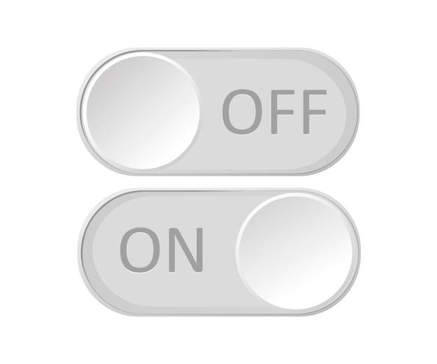 Ícone ativar e desativar botão de alternância. Vetor Premium