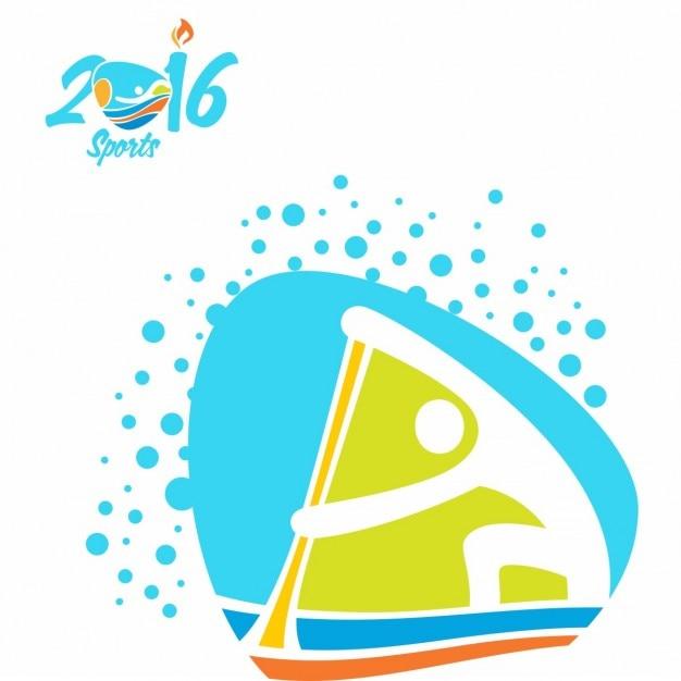 Ícone canoa sprint jogos olímpicos rio Vetor grátis