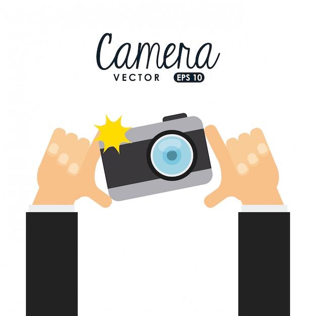 Ícone da câmera Vetor Premium