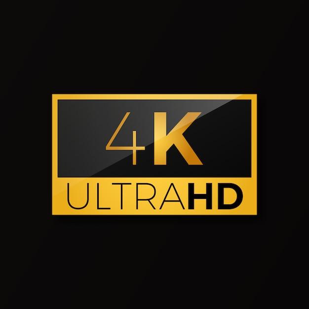 Ícone de 4k ultra hd Vetor Premium