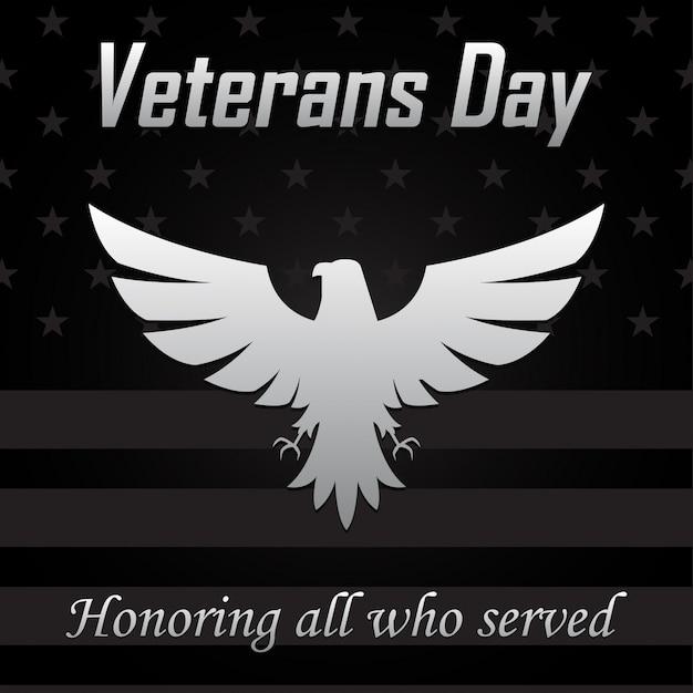 Ícone de águia para o dia dos veteranos. Vetor Premium