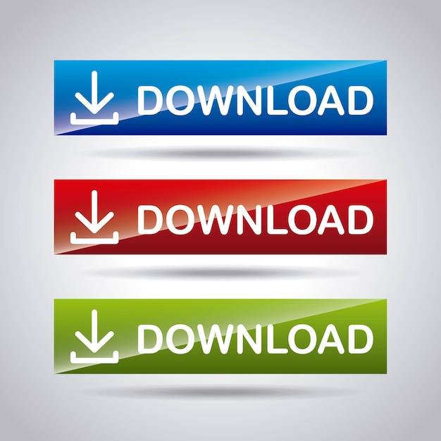Ícone de arquivo de download de seta Vetor Premium
