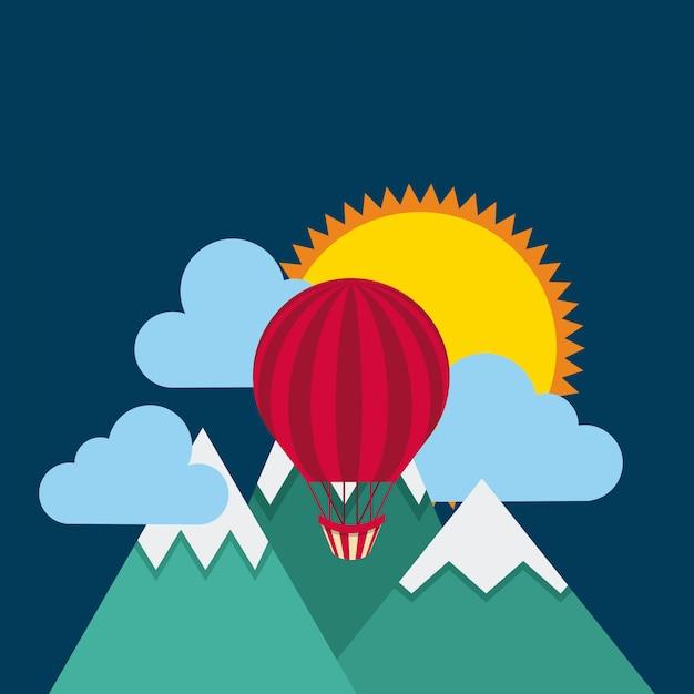 Ícone de balão de ar Vetor Premium