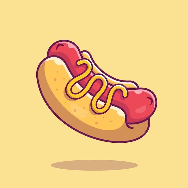 Ícone de cachorro-quente. coleção de fast-food. ícone de comida isolado Vetor Premium