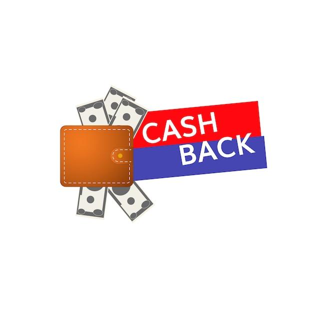 Ícone de cashback Vetor Premium