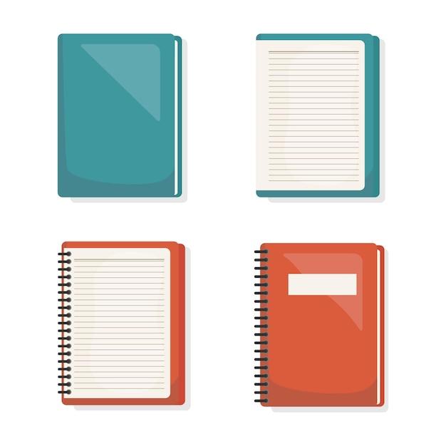 Ícone de conjunto de livros de volta às aulas Vetor Premium