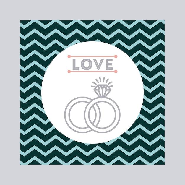 Ícone de convite de casamento design Vetor Premium