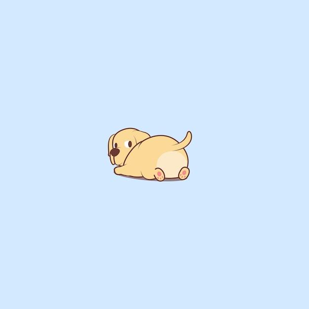 Ícone de desenho de filhote de cachorro labrador retriever Vetor Premium
