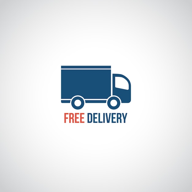 Ícone de entrega gratuita, símbolo vetorial, carro carregando carga Vetor grátis