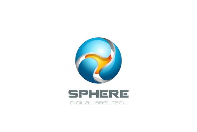 Ícone de esfera logotipo. Vetor grátis
