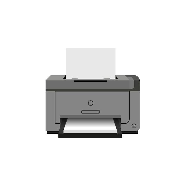 Ícone de impressora a jato de laser. equipamento de trabalho de escritório. Vetor Premium