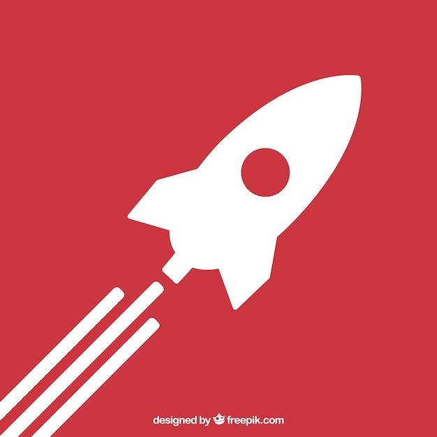 Ícone de lançamento de foguetes Vetor Premium