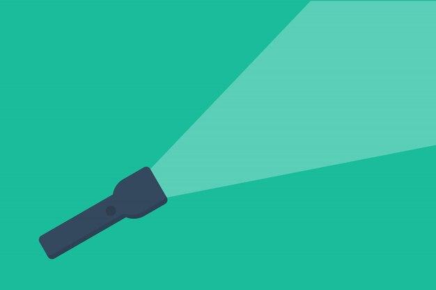 Ícone de lanterna com luz estilo simples Vetor Premium