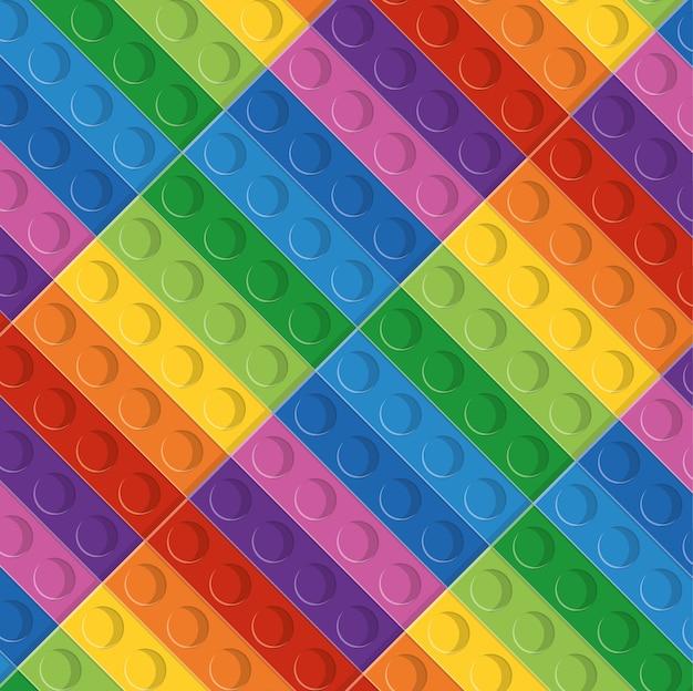 Ícone de lego. Vetor Premium