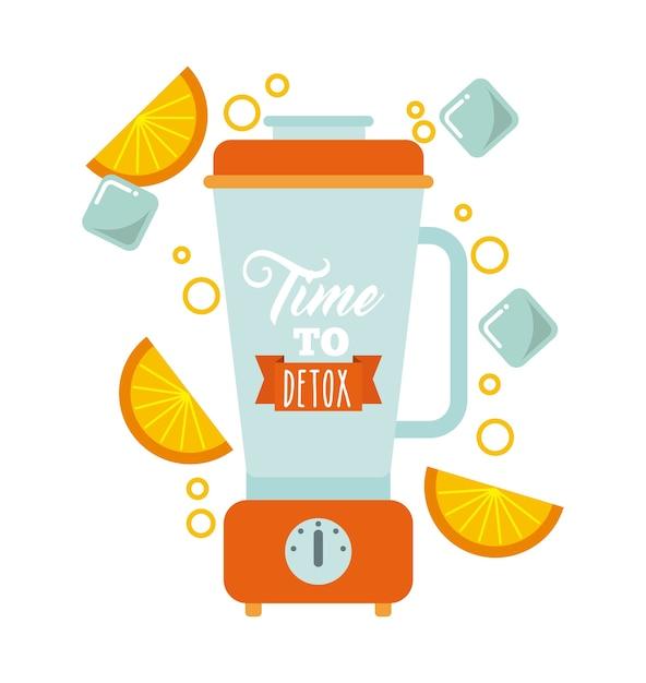 Ícone de liquidificador de desintoxicação. smoothie e suco de design. gráfico de vetor Vetor Premium