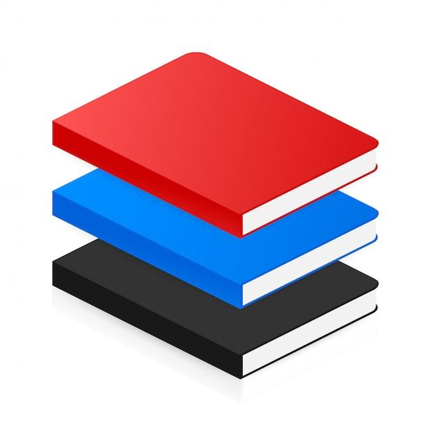Ícone de livro isométrico em estilo simples. . Vetor Premium