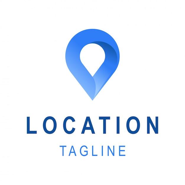 Ícone de localização. modelo de design de logotipo de negócios com espaço de tagline. símbolo criativo para empresa de viagens. Vetor Premium