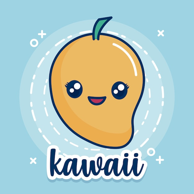 Ícone de manga kawaii Vetor grátis