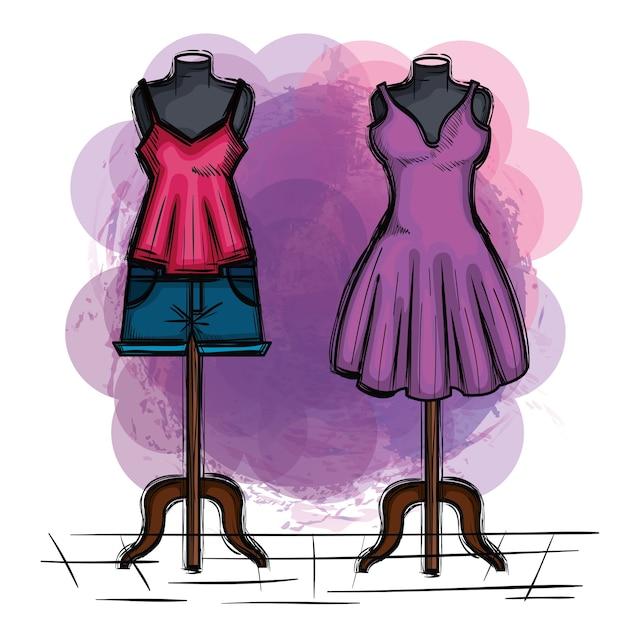 41e0b6fd2c6b1 Ícone de moda feminina   Baixar vetores Premium