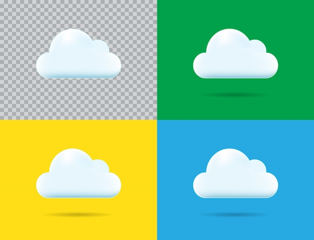 Ícone de nuvem profissional do vetor Vetor Premium