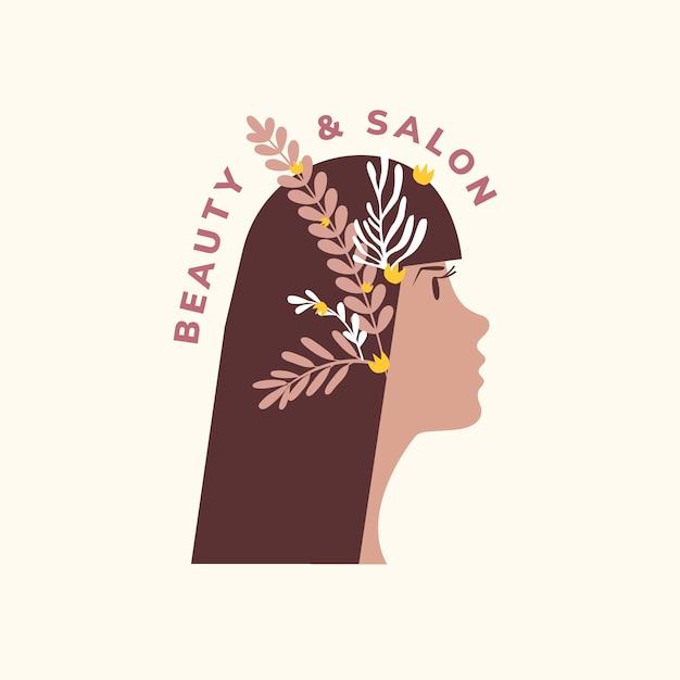 Ícone de salão de beleza e cabelo Vetor grátis
