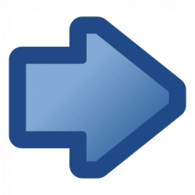 ícone de seta direita azul Vetor grátis