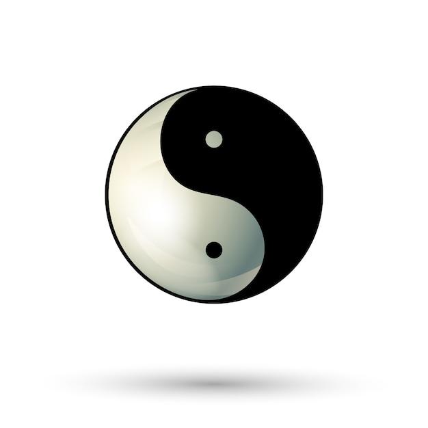 Ícone de símbolo de yinyang Vetor Premium