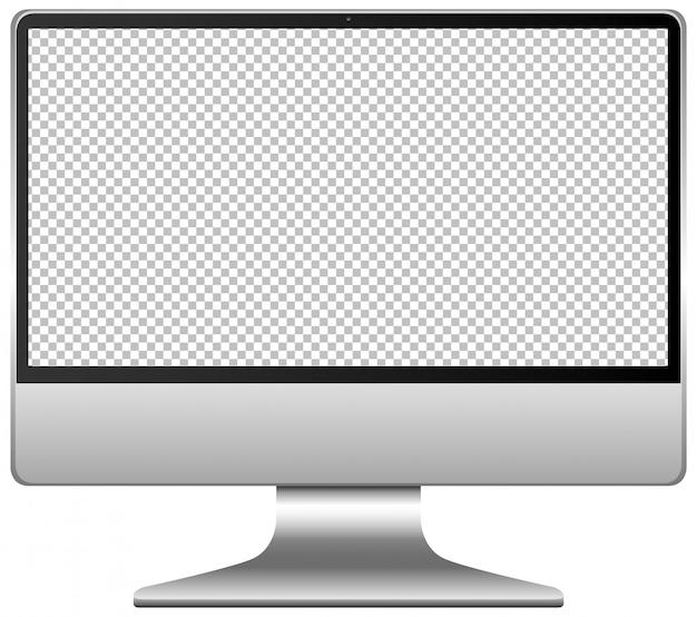 Ícone de tela em branco do computador isolado no fundo branco Vetor grátis