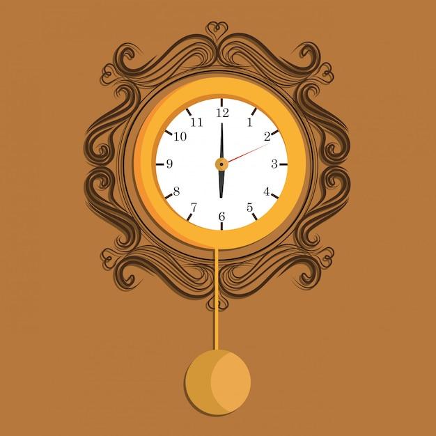 Ícone de tempo e relógio Vetor grátis