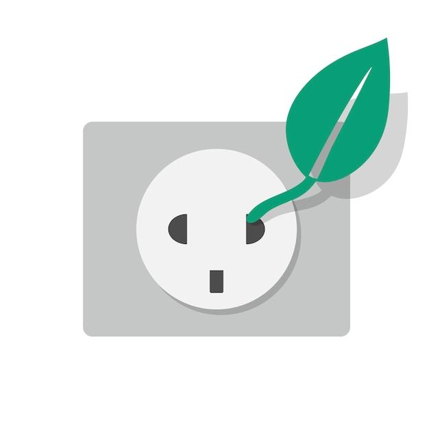 Ícone de tomada eletrcity de energia alternativa Vetor grátis