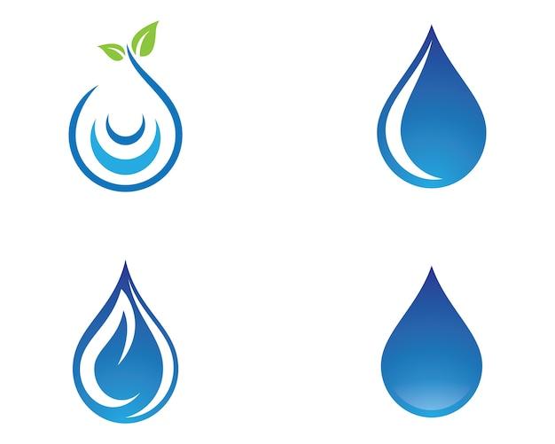 Ícone de vetor de gota de água Vetor Premium