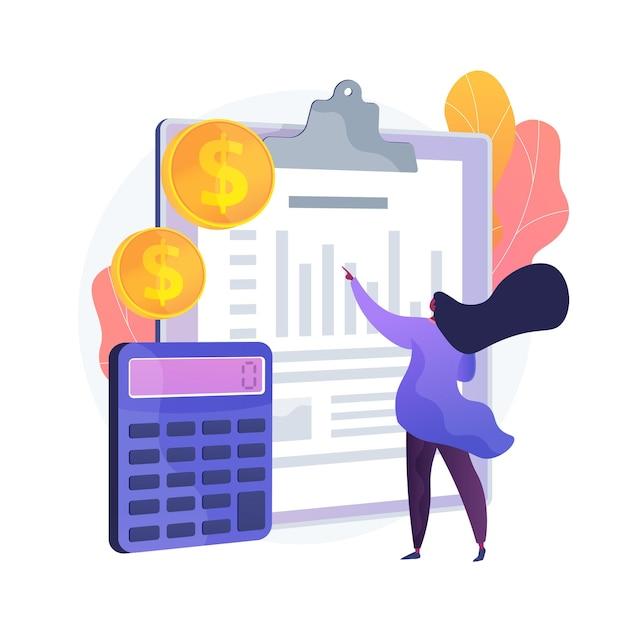Ícone de web dos desenhos animados de balanço. processo contábil, analista financeiro, ferramentas de cálculo. ideia de consultoria financeira. serviço de contabilidade. ilustração vetorial de metáfora de conceito isolado Vetor grátis