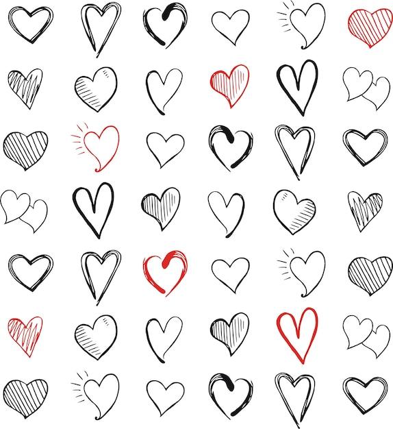 Ícone do amor símbolo do coração Vetor Premium