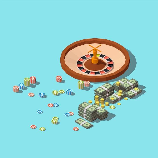 Ícone do aplicativo de jogos de cassino. Vetor Premium