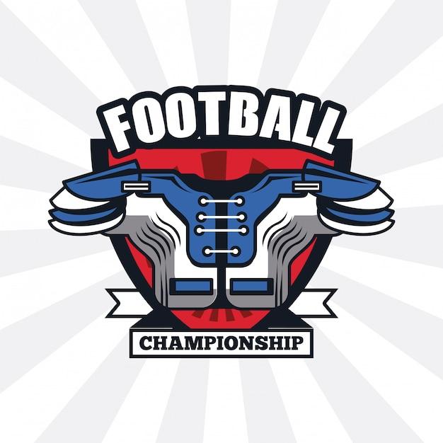 Ícone do campeonato de futebol Vetor Premium