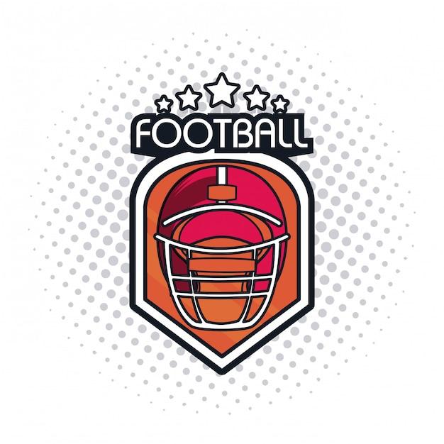 Ícone do capacete de futebol Vetor Premium