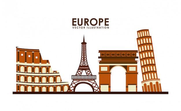 Ícone do design europa, gráfico de vetor ilustração eps10 Vetor Premium