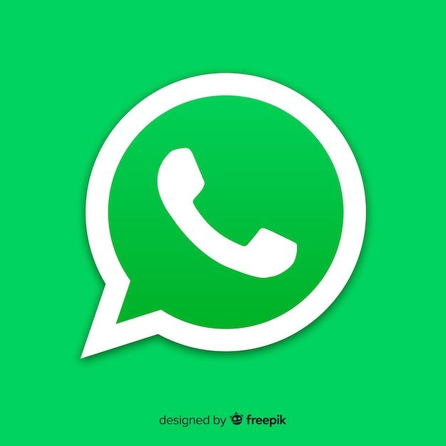Ícone do design whatsapp Vetor grátis