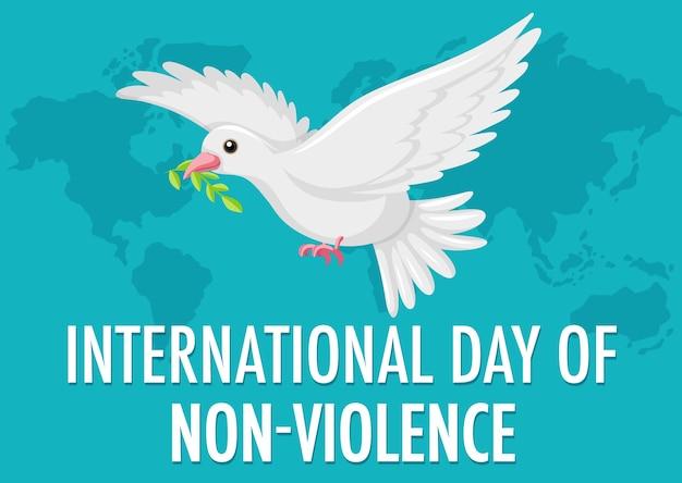 Ícone do dia internacional da não-violência Vetor Premium