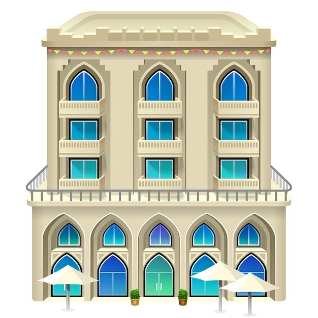 Ícone do hotel. ilustração . Vetor Premium