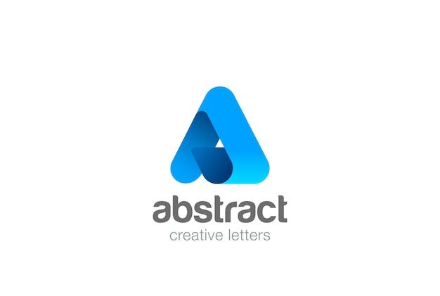 Ícone do logotipo corporativo de letra a. Vetor grátis