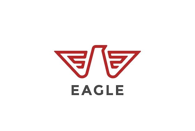 Ícone do logotipo da águia. estilo heráldico. Vetor grátis