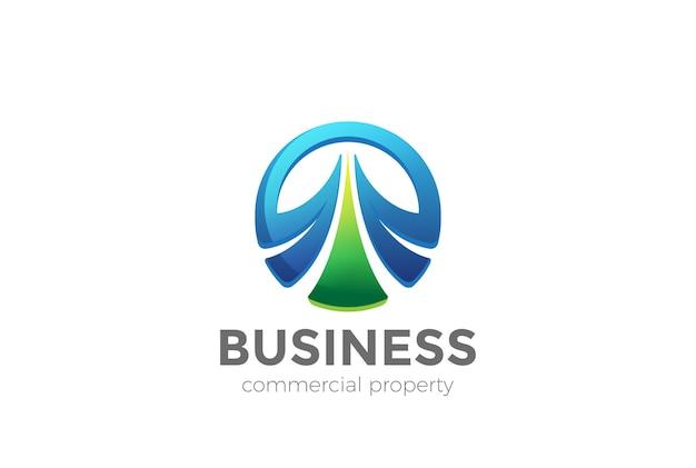 Ícone do logotipo do círculo elegante. Vetor grátis