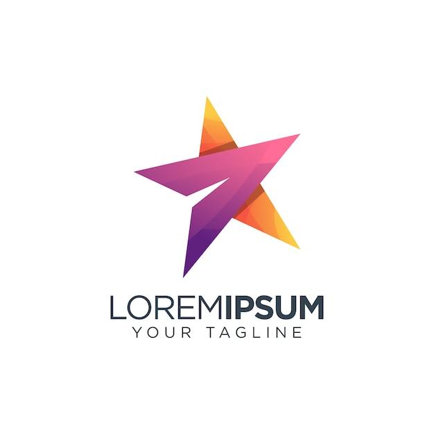 Ícone do logotipo estrela Vetor Premium